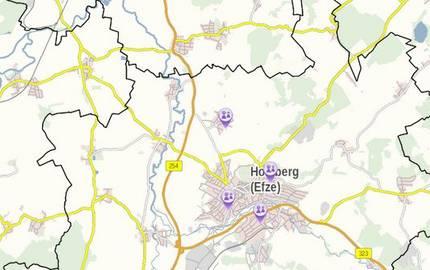 Übersicht über Standorte von ambulanten Pflegedienste in Nordhessen