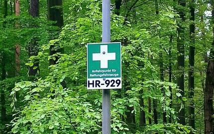 Rettungspunkte Hessen Forst © Henrik Allendorf