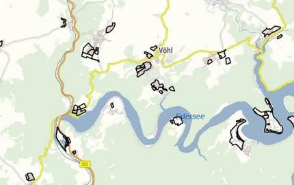 Geltungsbereiche der Bebauungspläne im Landkreis Waldeck-Frankenberg