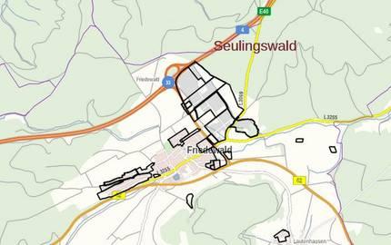Geltungsbereiche der Bebauungspläne im Landkreis Hersfeld-Rotenburg