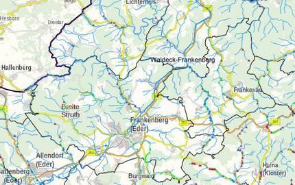 Menu: Gewässernetz