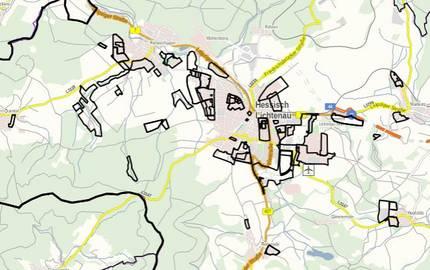 Geltungsbereiche der Bebauungspläne in Nordhessen
